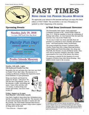 PAST TIMES Newsletter Summer 2018